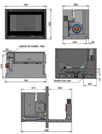 schema technique de l'insert a granule RUBIS