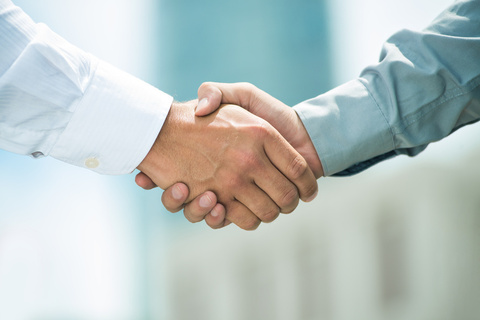 Large hand shake